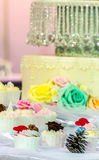 Sweet wedding cupcakes. Royalty Free Stock Images