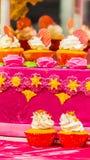 Sweet wedding cupcakes. Stock Images