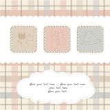 Sweet Welcome the New Baby Card Royalty Free Stock Images