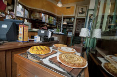 Sweet Welcome. Sweeties in one of the caffes at Upper Bergamo Royalty Free Stock Photography