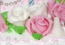 Sweet whipped cream rose Stock Photo