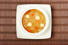 Sweet white fungus and lotus seeds soup. Chinese traditional dessert - Sweet white fungus and lotus seeds soup royalty free stock photos