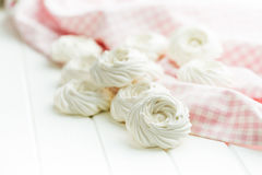 Sweet white meringue. Royalty Free Stock Photo