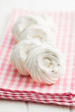 Sweet white meringue. Royalty Free Stock Images