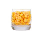 Sweet whole kernel corn Royalty Free Stock Photos