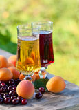 Sweet wine and fruits Royalty Free Stock Photo