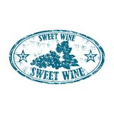 Sweet wine grunge rubber stamp Royalty Free Stock Images