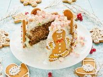 Sweet winter cake Stock Photos