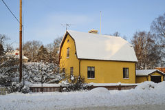 Sweet winter home Royalty Free Stock Photo
