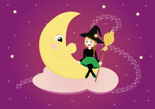 Sweet witch Stock Image