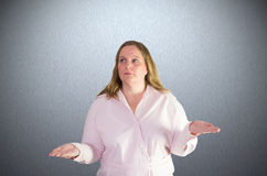 Sweet Woman doing juggling movements Royalty Free Stock Photo