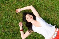 Free Sweet Woman On The Grass Stock Photo - 7792310