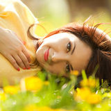 Sweet woman in the park Stock Photo