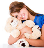Sweet woman with a teddy bear Royalty Free Stock Photo