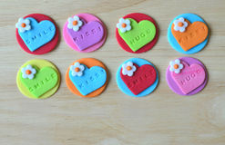 Sweet Word For Valentine And Love Royalty Free Stock Photos