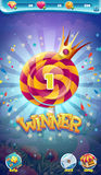 Sweet world mobile GUI game winner window Royalty Free Stock Photos