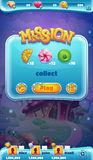 Sweet world mobile GUI mission collect Royalty Free Stock Photography