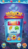 Sweet world mobile GUI mission collect window.  vector illustration