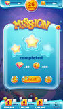 Sweet world mobile GUI mission completed Stock Images