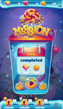Sweet world mobile GUI mission completed window Royalty Free Stock Photography