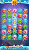 Sweet world mobile GUI playing field. Vector illustration Stock Image