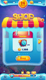 Sweet world mobile GUI shop screen for video web games.  Stock Photo