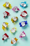 Sweet wrappers Stock Images