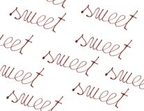 Sweet, written by chocolate Stock Images