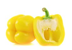 Sweet yellow bell pepper isolated Stock Photos