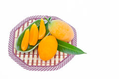 Sweet yellow Marian plum Royalty Free Stock Images