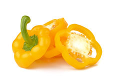 Sweet yellow pepper isolated on white background. Stock Photography