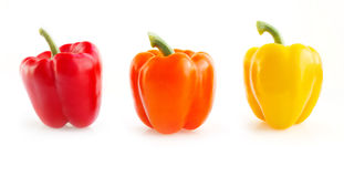 Sweet yellow and red peppers. Royalty Free Stock Photography