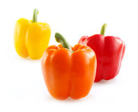 Sweet yellow and red peppers. Stock Photography