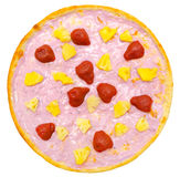 Sweet yoghurt pizza Stock Photo