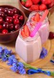Sweet yogurt Stock Photos