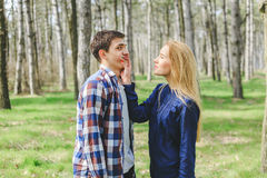 Sweet young couple having date. Spending great time together Royalty Free Stock Photo