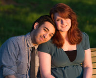 Sweet young couple Stock Image