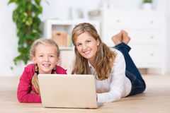 Sweet young girl with her mother Royalty Free Stock Photography