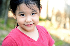 Sweet young little girl close up portrait. royalty free stock photos