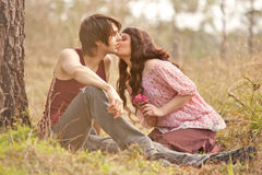 Sweet Young Love Stock Photos