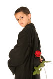 Sweet Young Man With Rose Royalty Free Stock Image