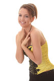Sweet young woman smiling Royalty Free Stock Photo