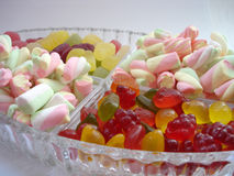 Sweeta. Marshmallows and gummys Royalty Free Stock Images