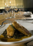 Sweetbreads with lentils 2 Stock Images