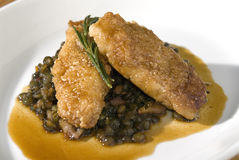 Sweetbreads With Lentils 3 Stock Photography