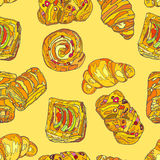 SweetCookies πρότυπο άνευ ραφής Στοκ εικόνα με δικαίωμα ελεύθερης χρήσης
