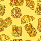 SweetCookies Modelo inconsútil Imagen de archivo libre de regalías