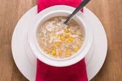 Sweetcorn κοτόπουλου σούπα στοκ εικόνα με δικαίωμα ελεύθερης χρήσης