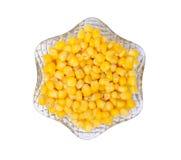 sweetcorn κρυστάλλου κύπελλων Στοκ Εικόνες