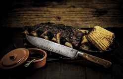 Sweetcorn on the BBQ. Stock Photography